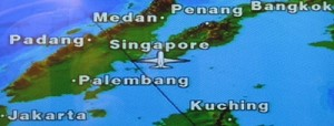 Singaopre Airline map 400