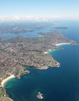 Sydney beaches from a 767 271