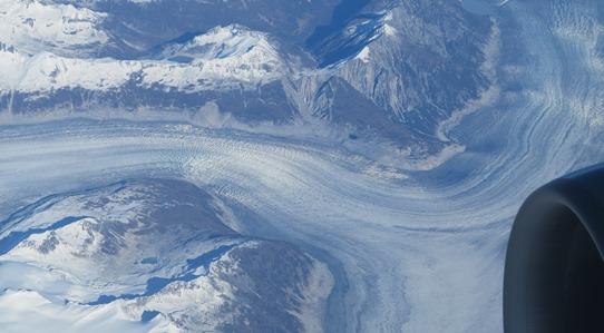 SFO-Beijing - Alaska glacier 542