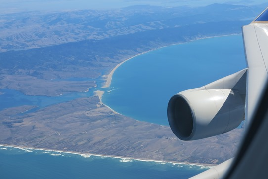 SFO-Beijing - California Coast 542