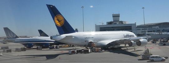 SFO - Lufthansa A380 542