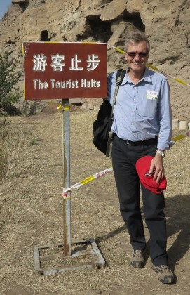Tony at Yungang Caves 271