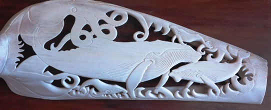 Ha'apai whalebone carving 542