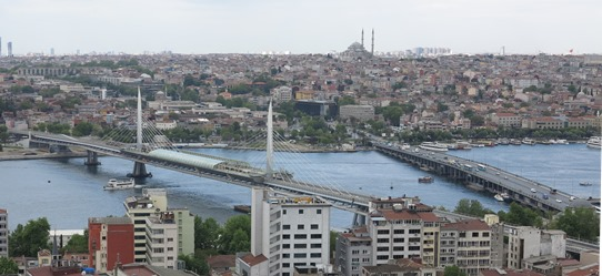 IMG_4948 - Golden Horn Metro Bridge & Atatruk Bridge from Galata Tower 542