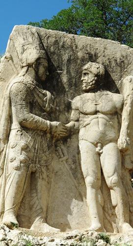 IMG_5211 - Mithridates I shakes hands with Heracles, Eski Kale (Arsameia) 271