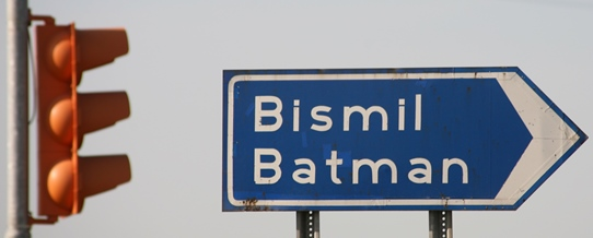 Turkey, near Diyarbakir, Batman sign 542