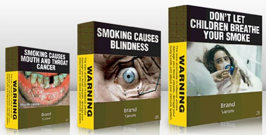 Australian cigarette packs