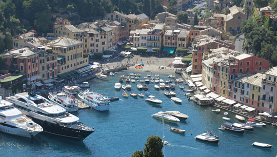 IMG_7774 - Portofino Harbour from Castello Brown - 540