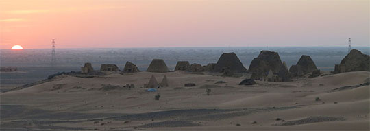 IMG_1813 - sunset at Meroe Pyramids at Begrawiya - 540