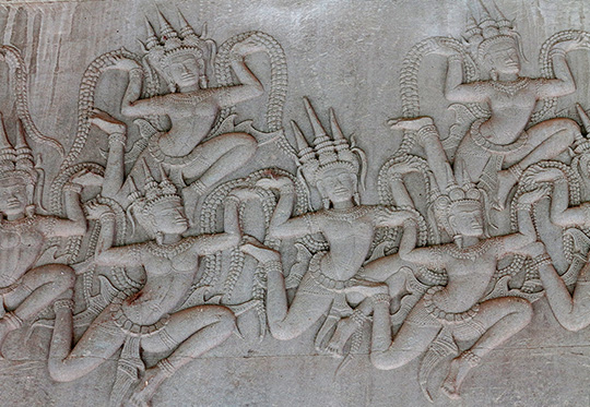 IMG_3083 - dancing apsaras, Churning the Ocean of Milk, bas relief - Angkor Wat - 540