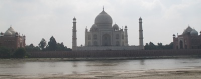 The Taj across the river