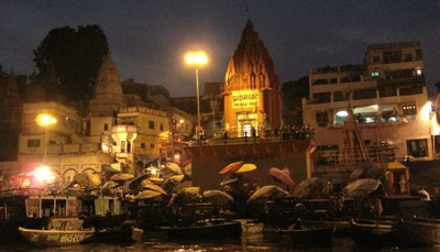 Prayag Ghat at night