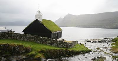 turf roofed church