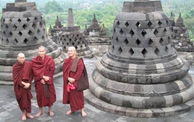 Borobodur & Burmese monks