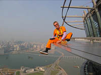 Dangling at Macau Tower