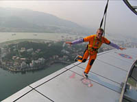Dancing on Macau Tower