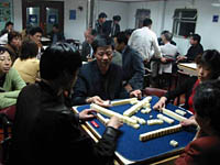 Mah jong players take over
