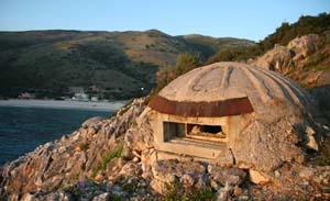 Bunker on the Albanian coast