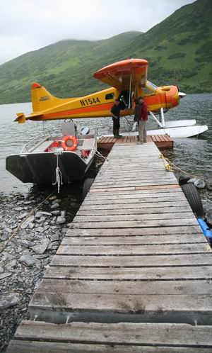 Beaver floatplane at Camp Island