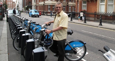 Tony on a Boris Bike