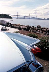 Caddy fins, Oakland Bay Bridge, San Francisco