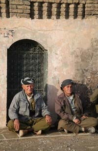 Kurdish men in citadel
