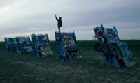 Kieran at Cadillac Ranch