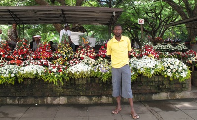 Harare flower stand