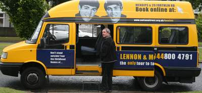 Lennon McCartney tour bus