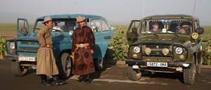 Gobi jeeps and drivers