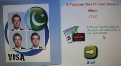 Pakistan visa photos