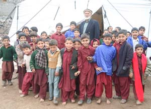tent school in earthquake zone