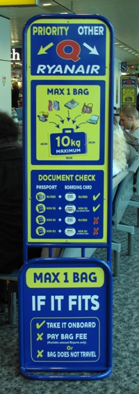 Ryanair instructions