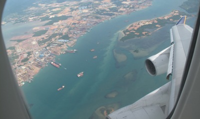Descending to Changi