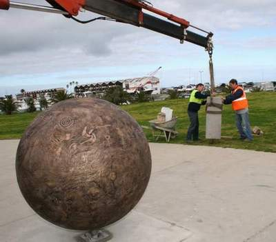 The Sun being installed