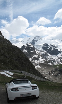 Tesla in the Alps